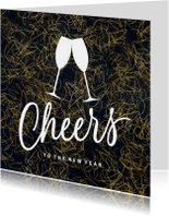 Stijlvolle zakelijke kerstkaart Cheers
