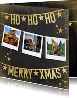 Stijlvolle zakelijke kerstkaart met slingers en typografie