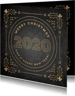 Stijlvolle zakelijke kerstkaart vintage Merry Christmas 2020