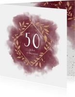 Stilvolle Glückwunschkarte zum Jubiläum