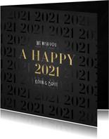 Stilvolle Neujahrskarte A Happy 2021 Foto innen