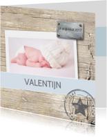 Stipt geboortekaartje Valentijn