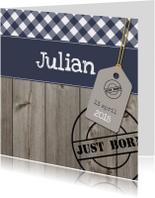 Stoer geboortekaartje Julian SS