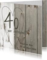 Stoer jubileumkaart hout zelf maken