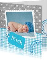 Geboortekaartjes - Stoer Linnen Sterren Mick