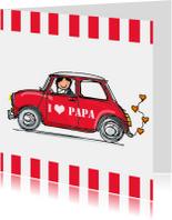 Stoere auto met hart vaderdag