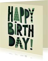 Stoere happy birthday verjaardagskaart man