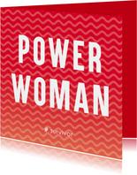 Sterkte kaarten - Strerktekaart: powerwoman