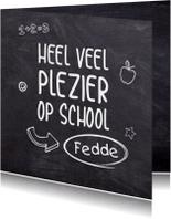 Succes - eerste schooldag schoolbord