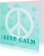 Succes kaart peace aquarel mint