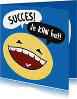 Succes kaart Smiley