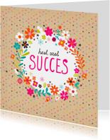 Succes met bloemen en stipjes