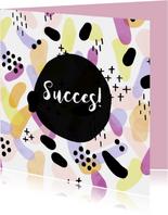 Succes met kleurrijk patroon vierkant
