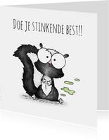 Succeskaart stinkdier - Doe je stinkende best!