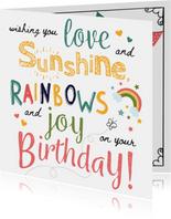 Verjaardagskaarten - Sunshine & Rainbows