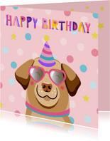 Super coole verjaardagskaart hond