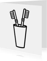 Tandenborstels Samenwonen kaart