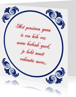 Tegelkaart Pensioen VUT