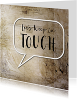 Tekstballon - Lets keep in touch - SG