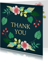 Bedankkaartjes - Thank you bloemenkaart