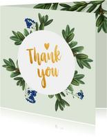 Thank you - botanische bedankkaart