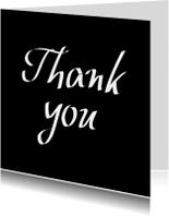 Thank you, zwarte kaart
