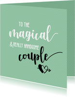 To the magical couple - huwelijkskaart