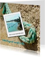 touw aan strand