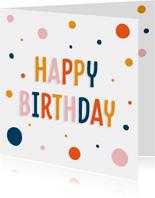Trendy verjaardagskaart met confetti