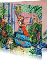 Tropisch Meisje Verjaardag