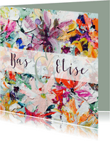 Trouwkaart bloemenpracht - IF vk
