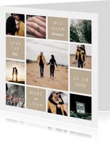 Trouwkaart fotocollage 'Wij gaan trouwen'