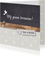 Trouwkaart-houtkrijt-BartRachel
