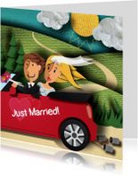 Trouwkaart - Just Married