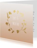 Trouwkaart krans goudlook-HM