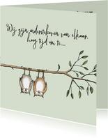 Trouwkaart - twee uiltjes