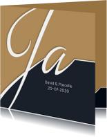 Trouwkaart Typografie en foto