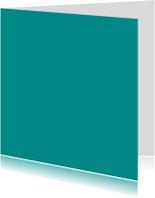 Turquoise dubbel vierkant
