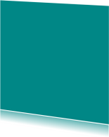 Turquoise enkel vierkant