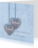 Tweeling Two Hearts Blauw