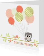 Uiltje met ballonnen