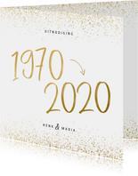 Uitnodiging 1970/2020 jubileum met confetti