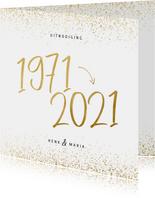 Uitnodiging 1971/2021 jubileum met confetti