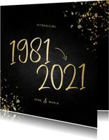 Uitnodiging 1981/2021 jubileum met spetters