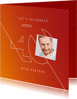 Uitnodiging 40 jaar man grafisch stijlvol modern