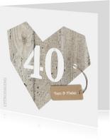 Uitnodiging 40 jarig huwelijk