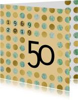 uitnodiging 50 gouden sterren