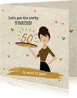 Uitnodiging 50 jaar vrouw