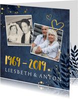 Uitnodiging 50 jarig huwelijksfeest - met 2 foto's en 1969