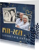Uitnodiging 50 jarig huwelijksfeest - met 2 foto's en 1971